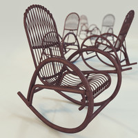 3d 3ds rocking chair