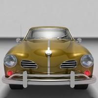 1962 volkswagen karmann ghia 3d 3ds