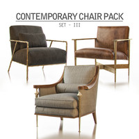 3d contemporary chair pack - model
