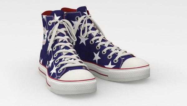 shoe converse star 3d obj