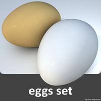 3d model set egg