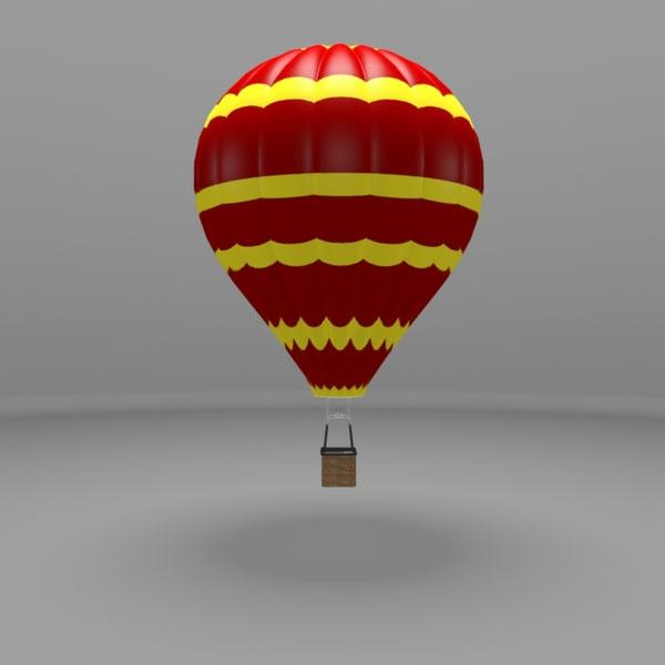 hot air ballon 3d 3ds