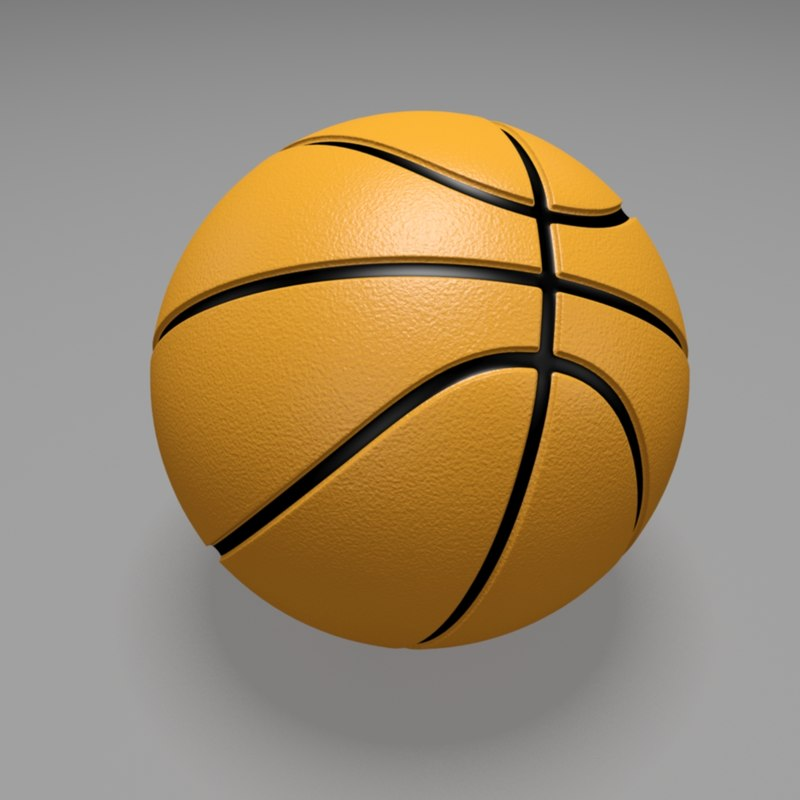 3ds max basketball sports equipment