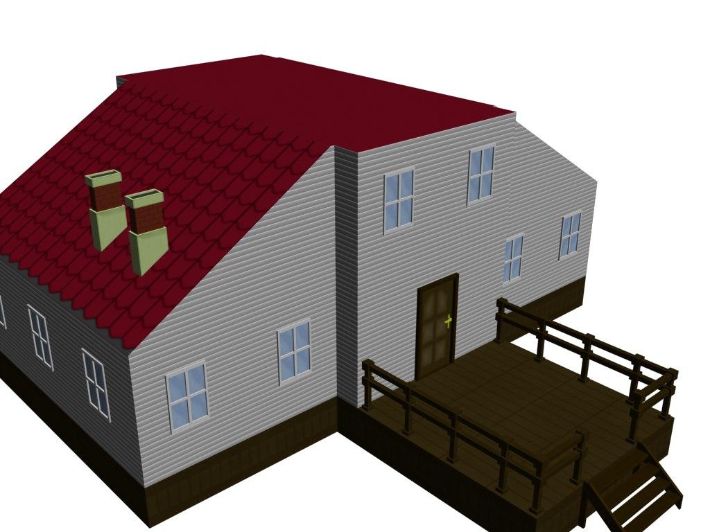 max cartoon house construction kit