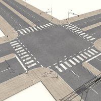3d model streets roads highways collections