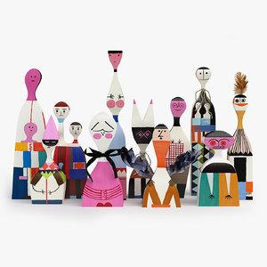 3d model girard wooden dolls toy