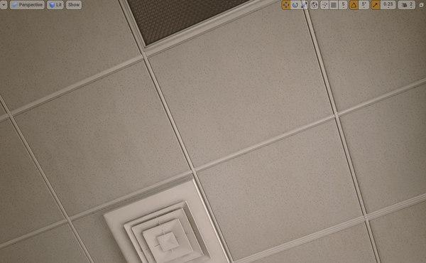 maya ceiling grid set -