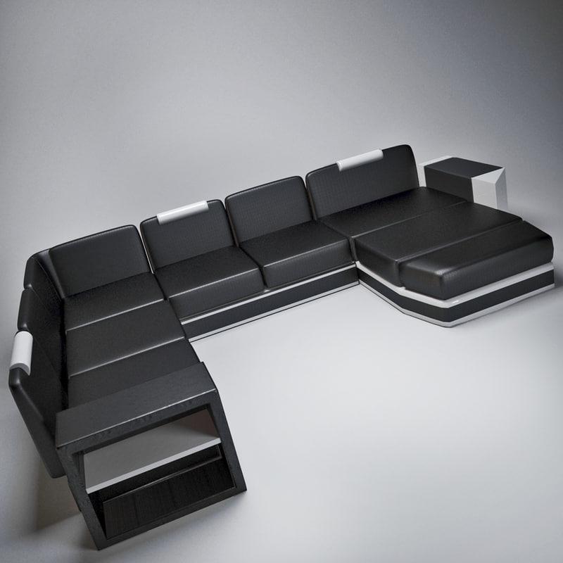 3d big sofa