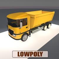 tipper truck 3d model