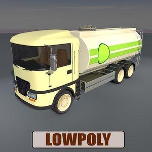 oil truck 3d obj