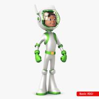 3d model space hero