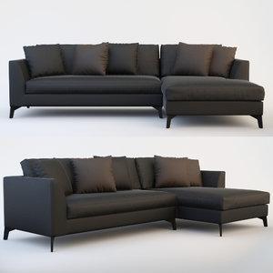 lewis sofa modular 3d max