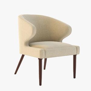 3d lorae arm chair model