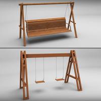 3d garden swings model