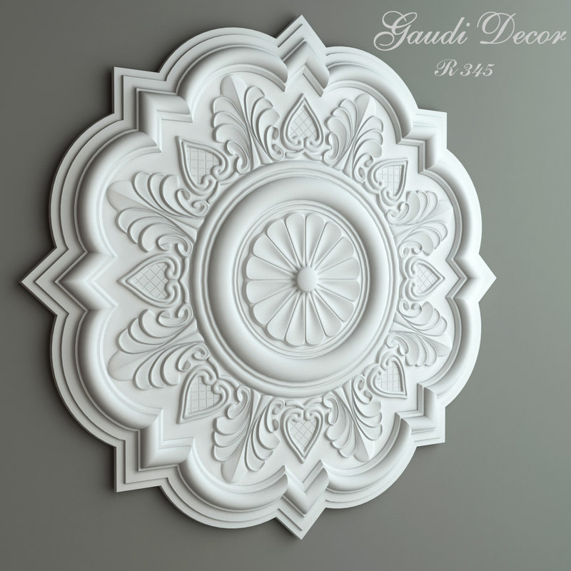 ceiling rose gaudi decor 3d max