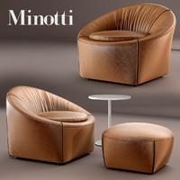 max minotti capri armchair