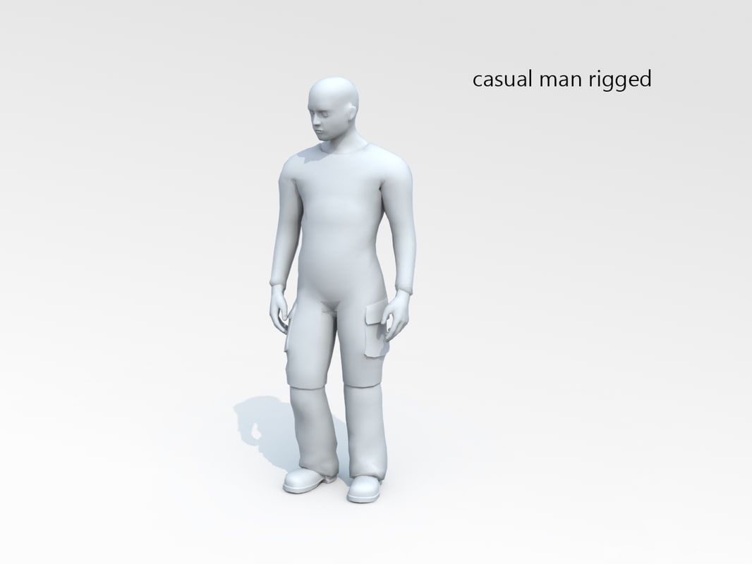 rigged biped 3d model
