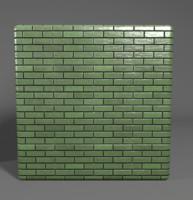 Brick texture green