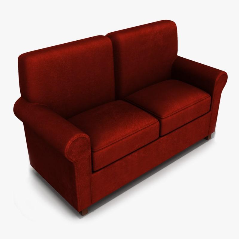 3d model loveseat furniture sofa