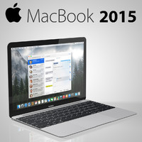 new macbook 2015 3d model