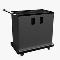 3d service cart model