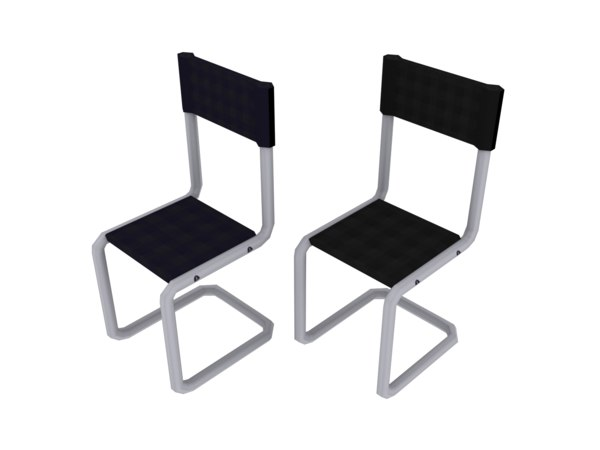 free office chairs 3d model