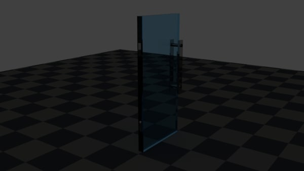 3d glass door model