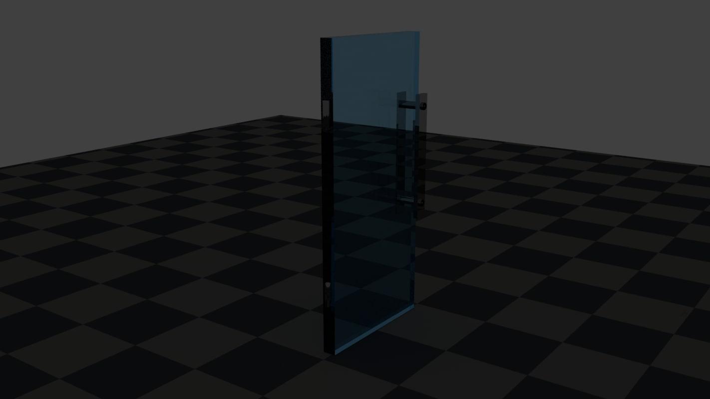 3d glass door model