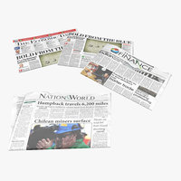 3d model newspapers realistic
