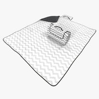 max picnic blanket white set