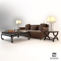 livingroom modern set obj