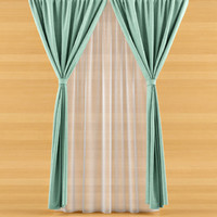 3d curtain fabric modeled model