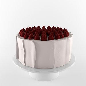 3d cake strawberry