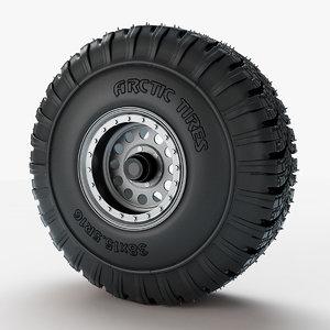 wheel arctic tires 3d max