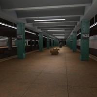 3d model new york subway