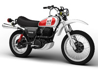 3d yamaha xt500 1975 motorcycle model