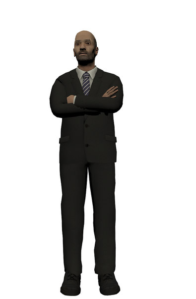 businessman 3d model