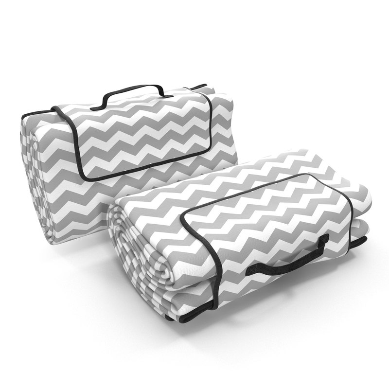 picnic blanket white folded 3d model