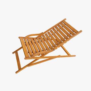 max deckchair chair wood