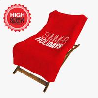 3d max deckchair towel