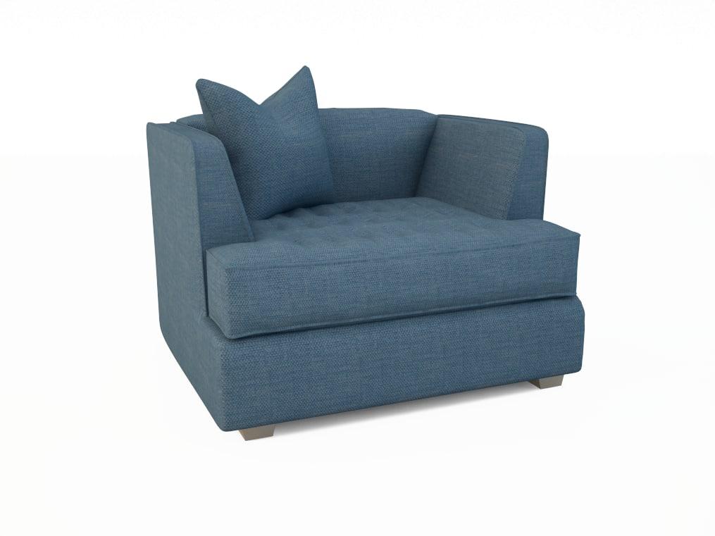 3d alex chair sofa model