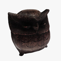 Figurine Owl wood