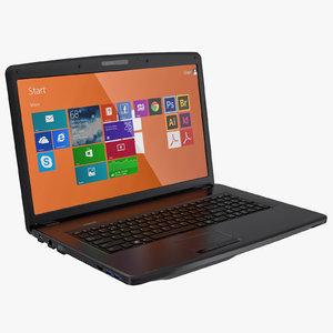 3d laptop notes windows model