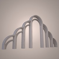 3d graceful arch model