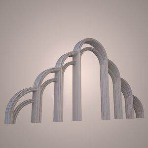 3d graceful arch model