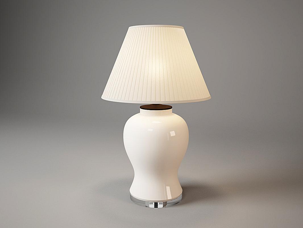 108761table lamp halston eichholtz 3d max
