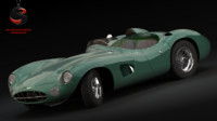 3d model of aston martin dbr 1