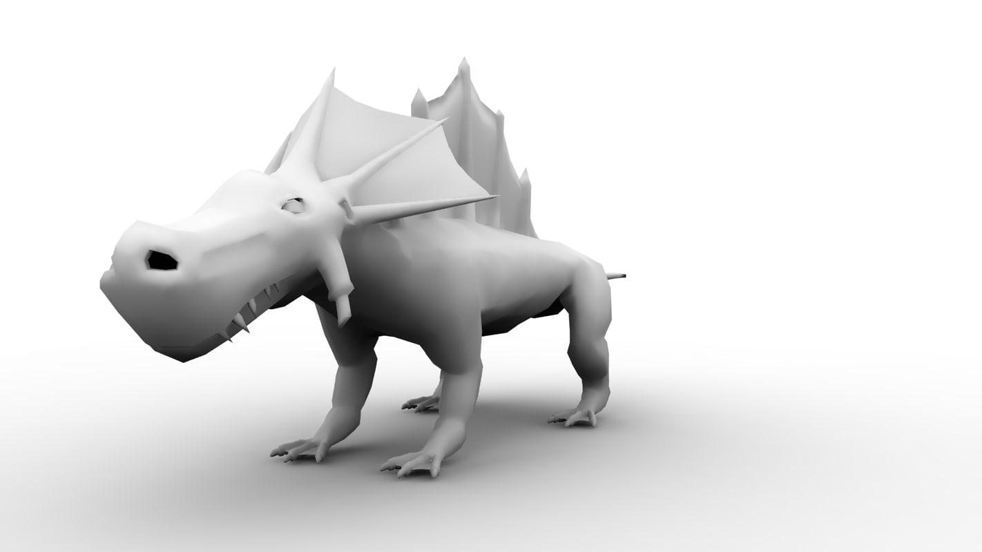 3d fantasy lizard
