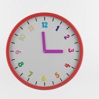 3d childrenes wall clock