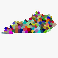 3d counties kentucky model